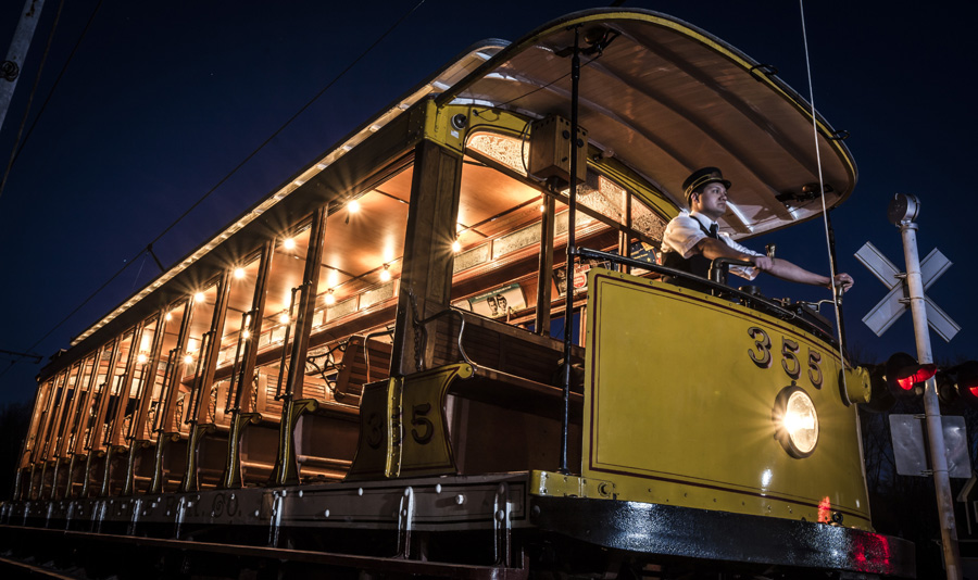 Photographers night at the Connecticut Trolley Museum