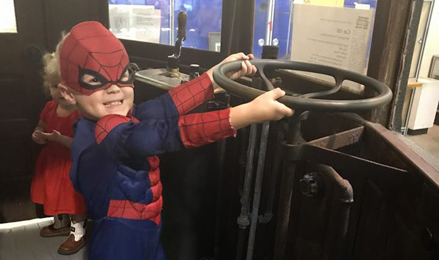 Super Hero and Princess Day at the Connecticut Trolley Museum
