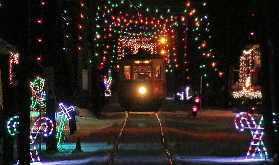 Winter wonderland at the Connecticut Trolley Museum