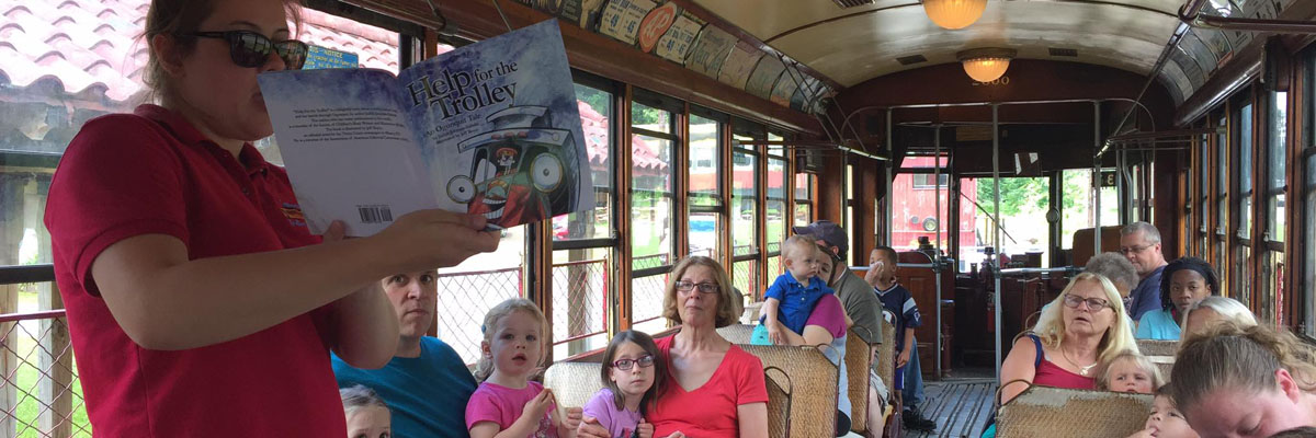 Storytime Trolley at the Connecticut Trolley Museum