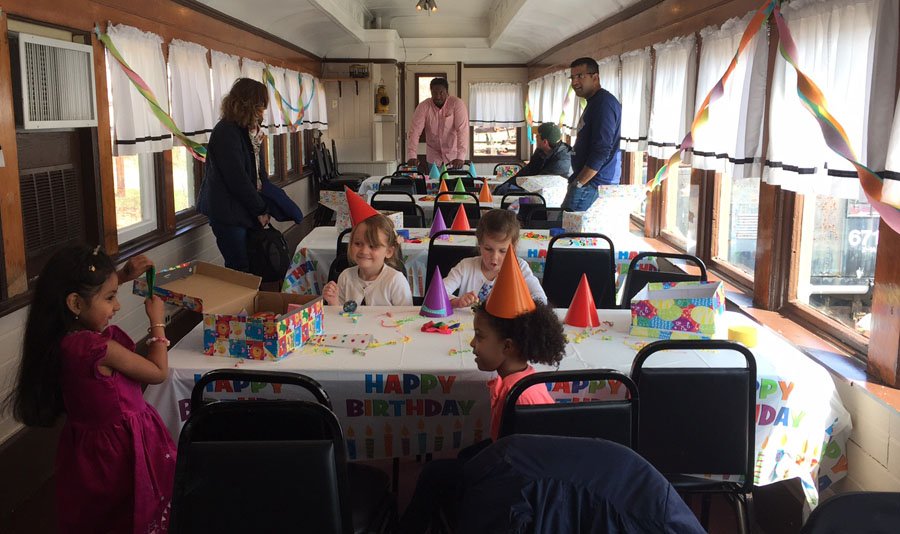 Plenty of space to host a party in the dining car