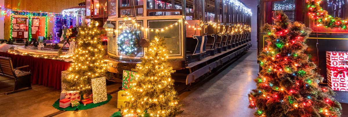 Private Events during Winterfest at the Connecticut Trolley Museum!