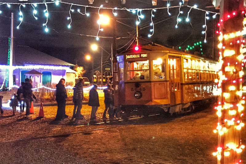 Holiday lights and a trolley ride